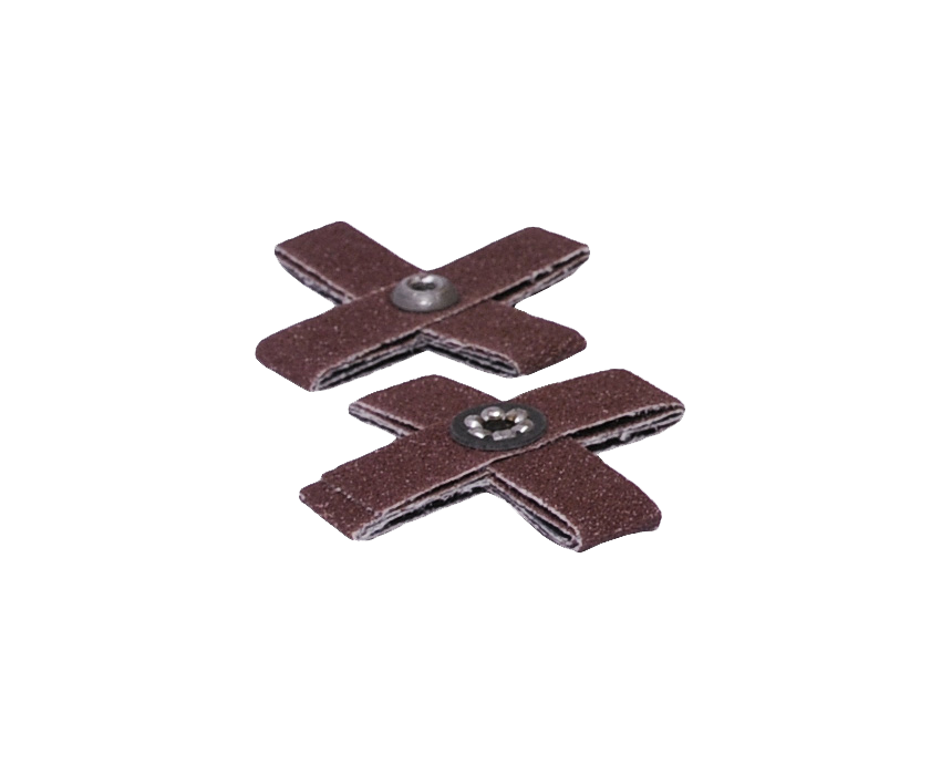"Cross Pad 2"" x 2"" x 1/2"" 60 Grit 8 Ply 8-32 (Abrasive Pads)"