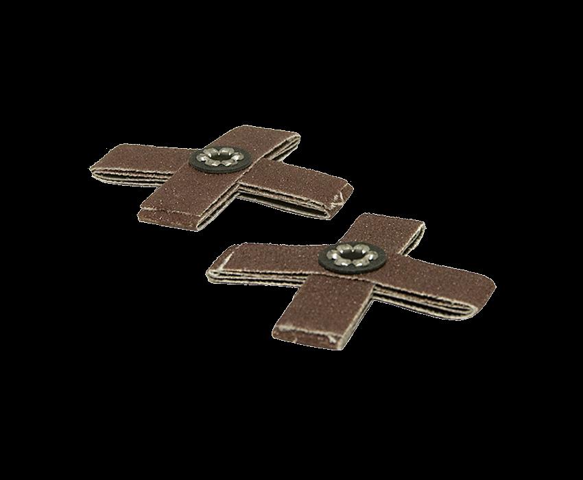 Cross Pad: 2 x 2 x 1/2 80 Grit 8 Ply 8-32