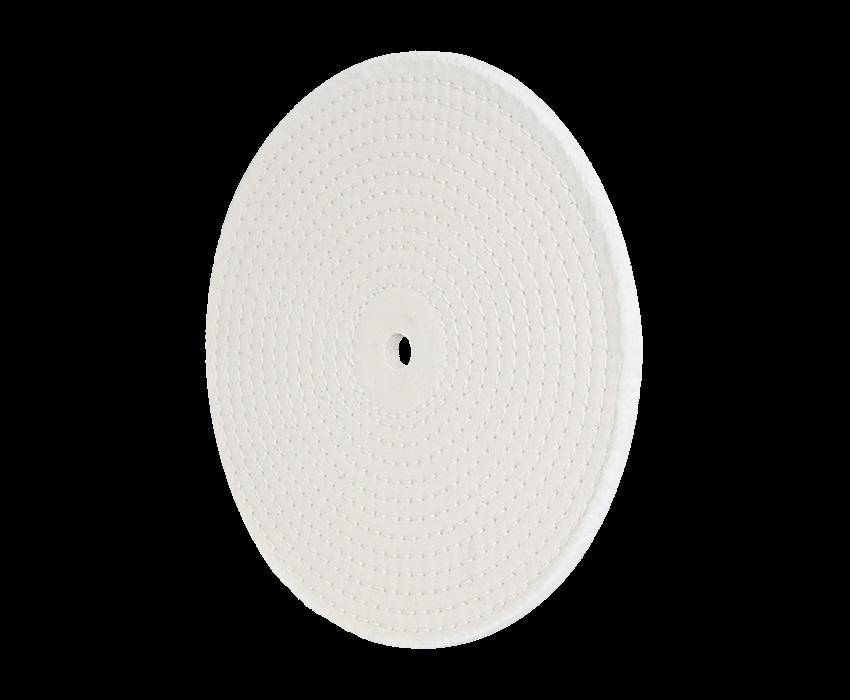 Sewn Buff: 8 in. Dia. 20ply 86/80 1/4 inch Spiral Sewn